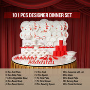 101 Pcs Designer Dinner Set