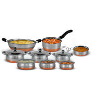 12 Pcs Copper Base Cookware Set
