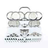 61 Pcs Designer Stainless Steel Dinner Set