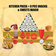 Kitchen Press + 8 Pcs Snacks & Sweet Maker