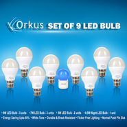 Set of 9 LED Bulbs