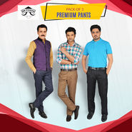 Pack of 3 Premium Pants by Mr. Tusker (3CT1)