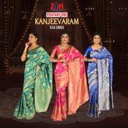 Pick Any One Assorted Kanjeevaram Silk Saree by Zuri (KSS11)