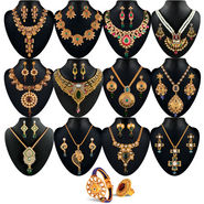 Rachna 1 Gram Gold Plated 12 Jewellery Set