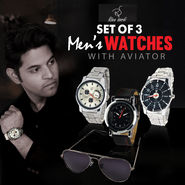 Rico Sordi Set of 3 Men's Watches with Aviators