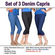 Set of 3 Denim Capris