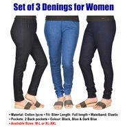Set of 3 Denings for Women