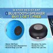 Water Resistant Bluetooth Speaker - Buy 1 Get 1 Free