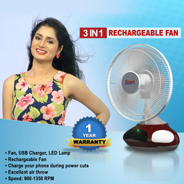3 in 1 Rechargeable Fan