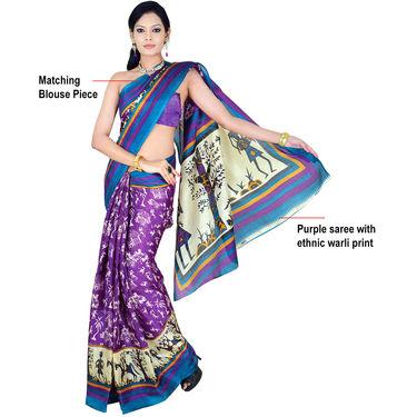 Aarti Set of 7 Tussar Art Silk Sarees (7B3)