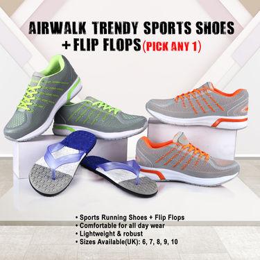 Aairwalk Trendy Sports Shoes + Flip Flops (Pick Any 1)