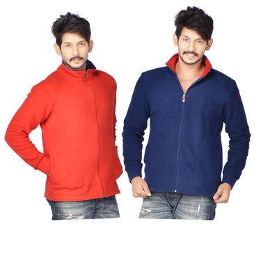 American Indigo Set of 2 Fleece Jackets for Men