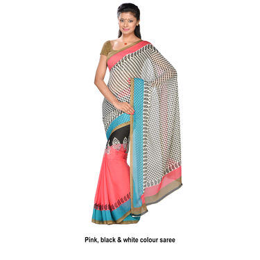 Aparajita Collection of 7 Printed Georgette Sarees by Pakhi (7G30)