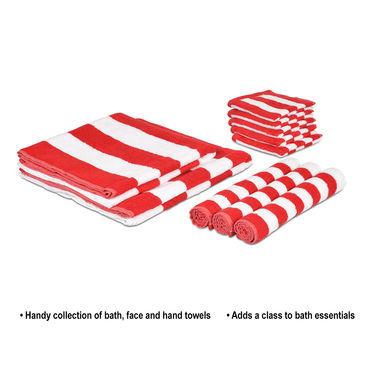 Cabana Stripes 10 Pcs Towel Combo