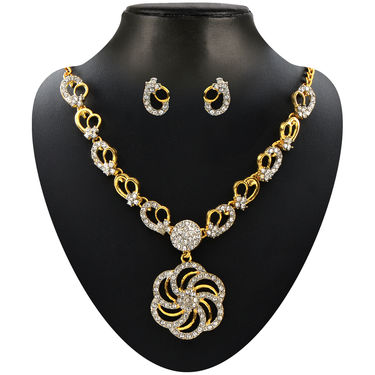 Floral Austrian Diamond Jewellery Collection