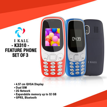 I Kall K3310 Feature Phone Set of 3