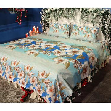 Mehekte Phool Pack of 5 - 3D Double Bedsheets (5BS19)