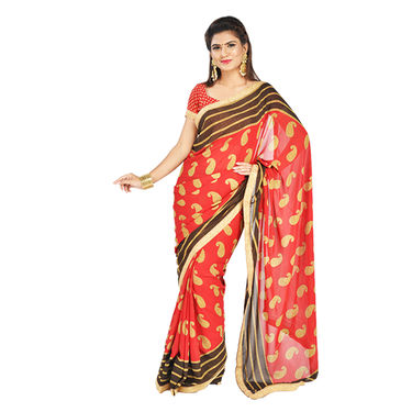 Pack of 6 Assorted Sarees with Heavy Border by Pakhi (6GBS3)