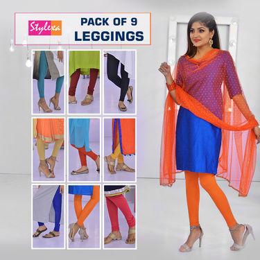 Pack of 9 Leggings by Stylexa
