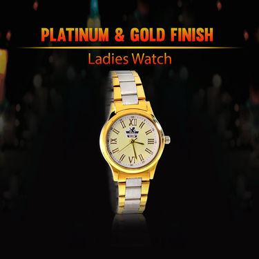 Platinum & Gold Finish Ladies Watch