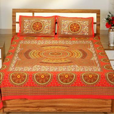 Rangon Ki Duniya 3 Double + 5 Single Jaipuri Bedsheets (3D5BS1)