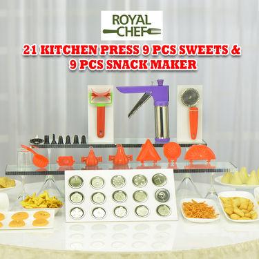 Royal Chef 21 Pcs Kitchen Press + 9 Pcs Sweets & Snack Maker