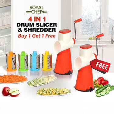 Royal Chef 4 in 1 Drum Slicer & Shredder - Buy 1 Get 1 Free
