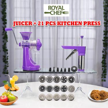 Royal Chef Juicer + 21 Pcs Kitchen Press