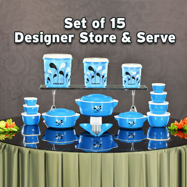 Set of 15 Designer Store & Serve