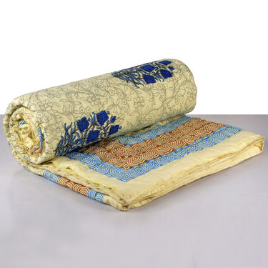 Set of 2 Reversible Cotton Razai