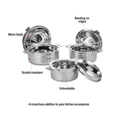 3 Pcs Stainless Steel Casserole Set