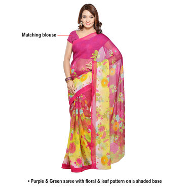 Tara Collection of 7 Printed Georgette Sarees by Pakhi (7G34)