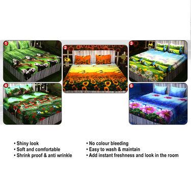Satrangi Pack of 5 - 3D Bedsheets (5BS17)