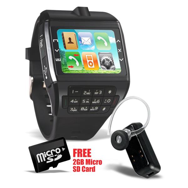 Branded Dual Sim Watch Mobile With Keypad Camera Bluetooth