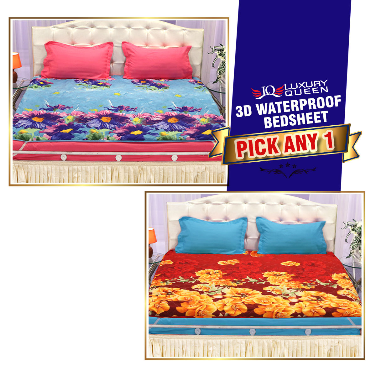 Buy 3d Waterproof Bedsheet Pick Any One Online At Best