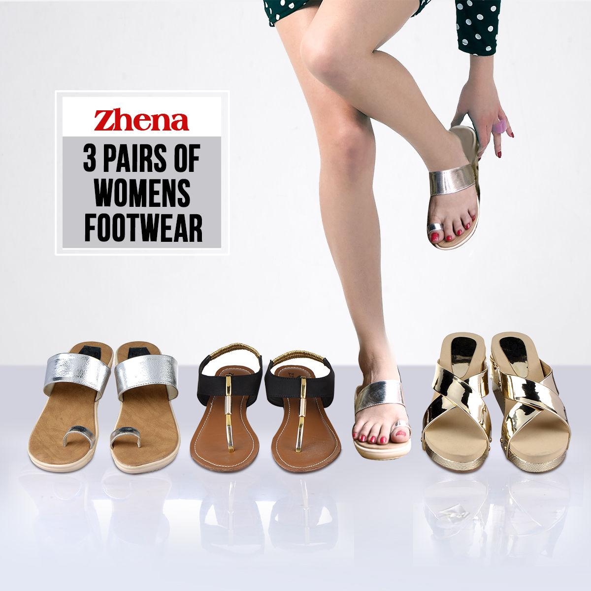 71d7f0d719d Zhena 3 Pairs of Women's Footwear